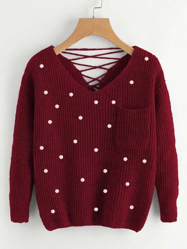 tricoter avec des perles