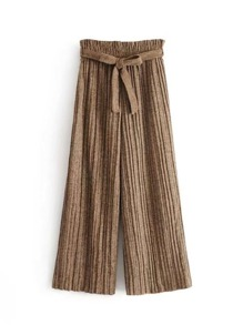 Self Tie Pleated Pants