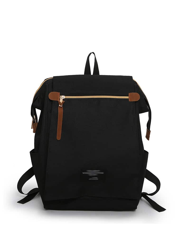 Zip Detail Canvas Backpack