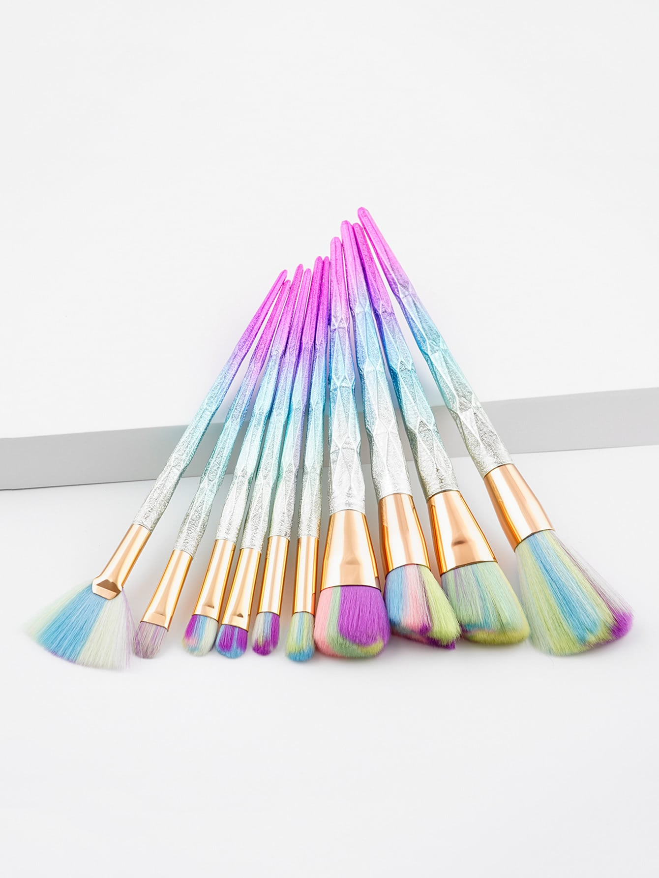 Ombre Diamond Handle Makeup Brush 10pcs ноутбук dell inspiron 5567 5567 3539 5567 3539