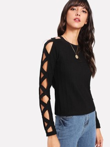 T-shirt con maniche con cut-out
