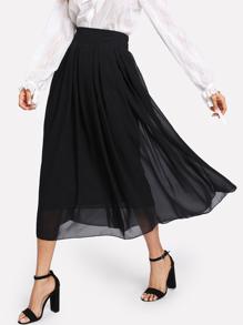 Elastic Waist Chiffon Skirt