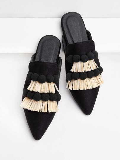 Pom Pom & Fringe Decorated Flats