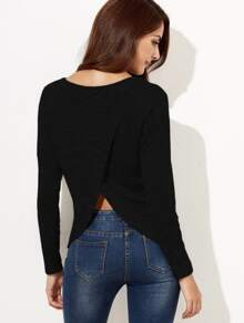 Camiseta con la parte trasera superpuesta