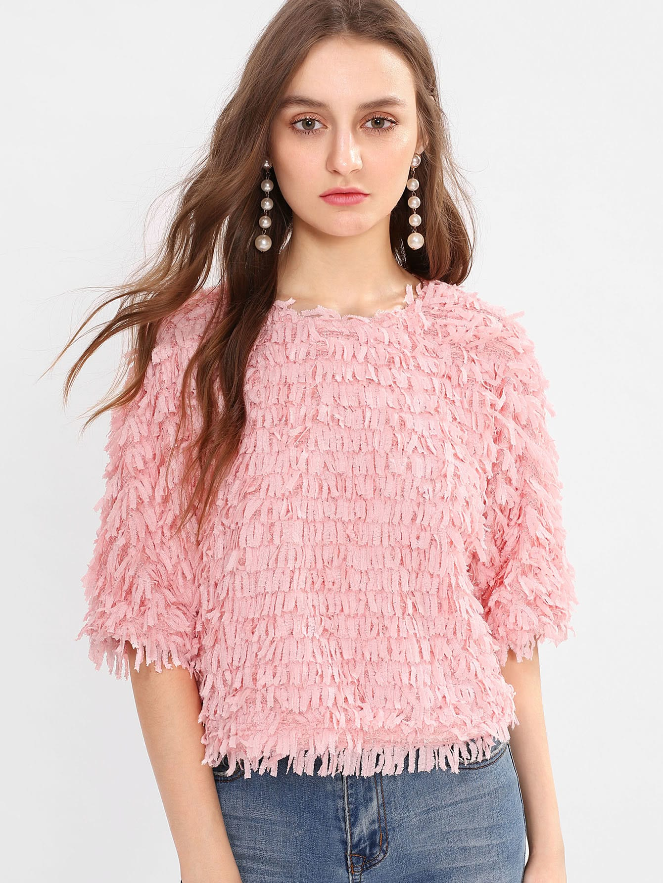 Allover Fringe Top lisa corti короткое платье