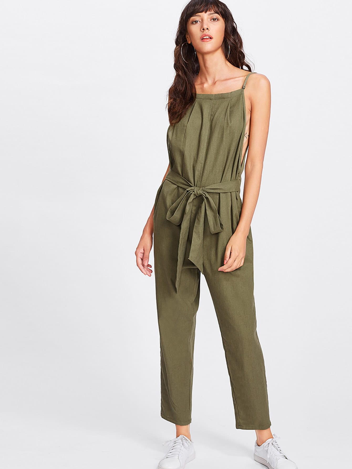Image of Armhole And Backless Cami Jumpsuit