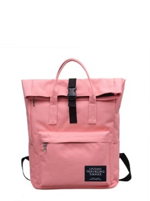 Roll Up Canvas Backpack
