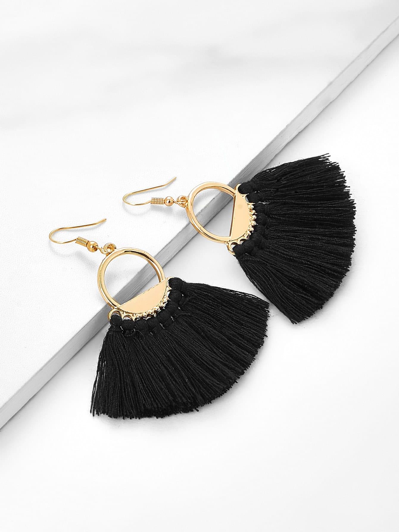 Fringe Tassel Drop Earrings
