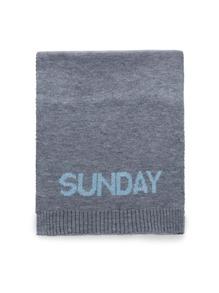 Écharpe tricoté imprimé alphabet