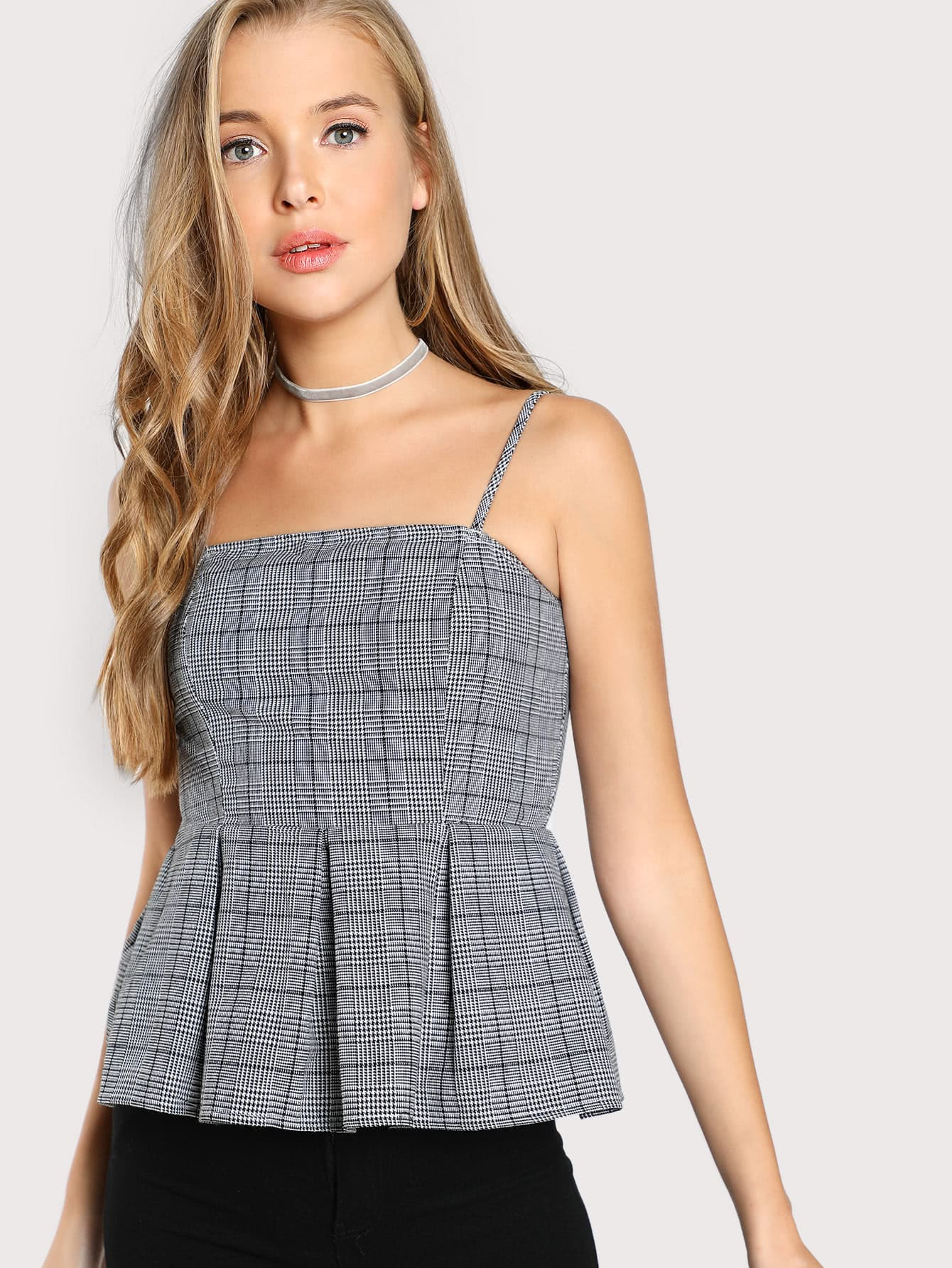 Gingham Peplum Hem Cami Top миша майский franz schubert songs without words mischa maisky daria hovora