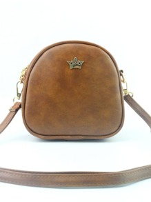 Crown Decorated PU Shoulder Bag