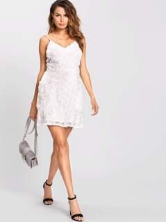 3D Flower Cami Dress