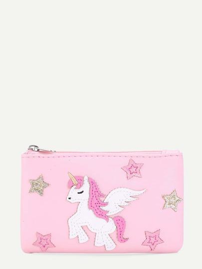 Horse & Star Pattern PU Purse