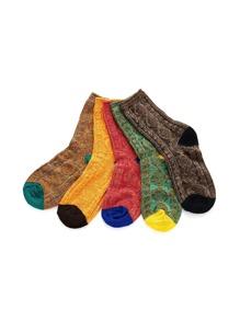 Geometric Pattern Socks 5pairs