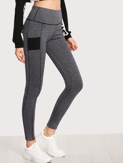 Color Block Skinny Leggings