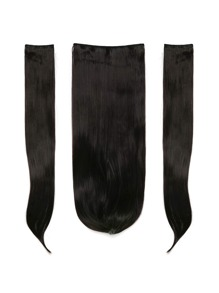 Natural Black Clip In Straight Hair Extension 3pcs