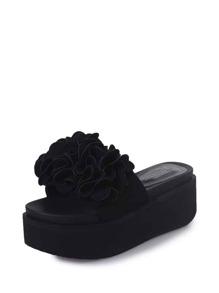 Flower Decorated Flatform Sandals