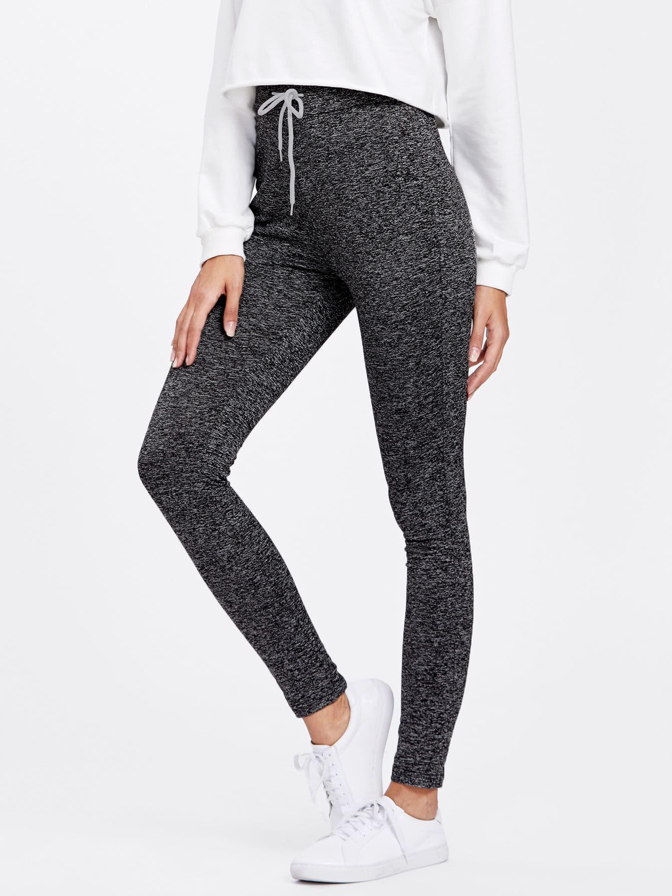 Drawstring Waist Skinny Leggings empire skinny leggings