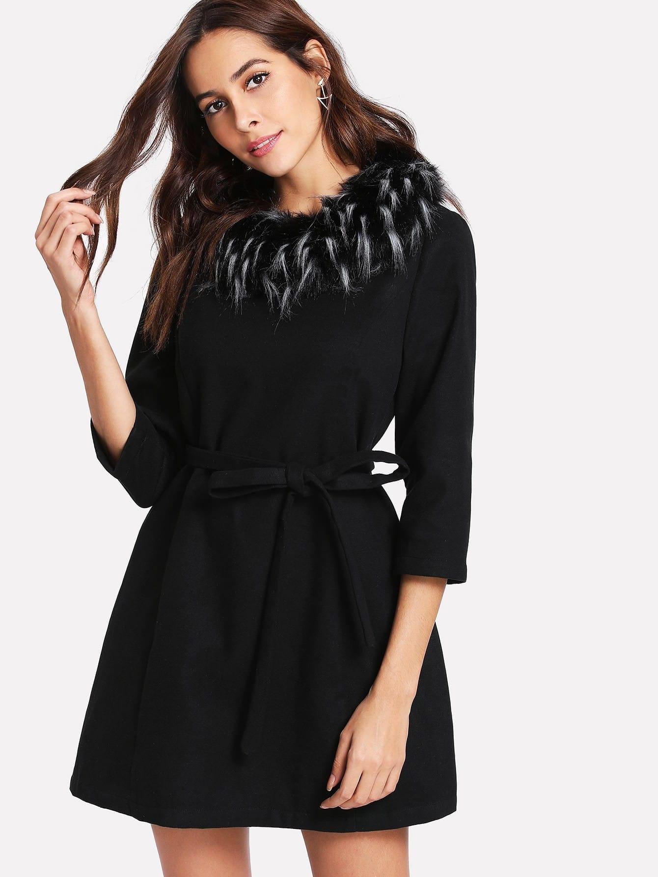 Купить Модное платье с поясом, Giulia, SheIn