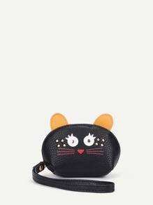Cute PU Wallet With Ear