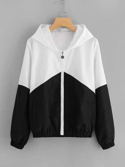 Cut And Sew Zip Up Jacket