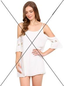 Black Stripe In White Short Sleeve Striped Bodycon Dress