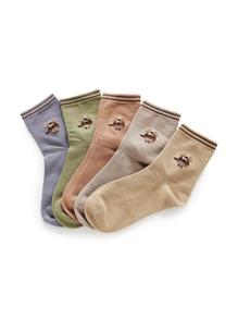 Christmas Animal Pattern Ankle Socks 5pairs