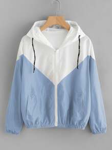 Two Tone Hooded Jacket