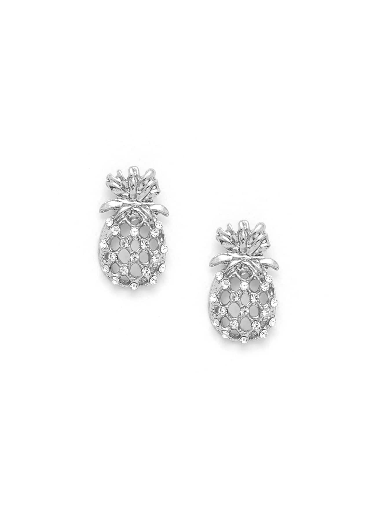 все цены на Hollow Pineapple Stud Earrings онлайн