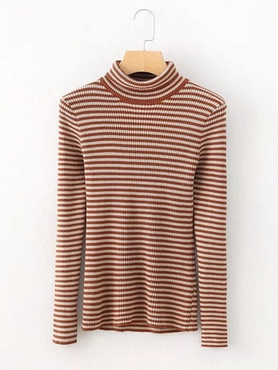 Striped Slim Fit Knitwear