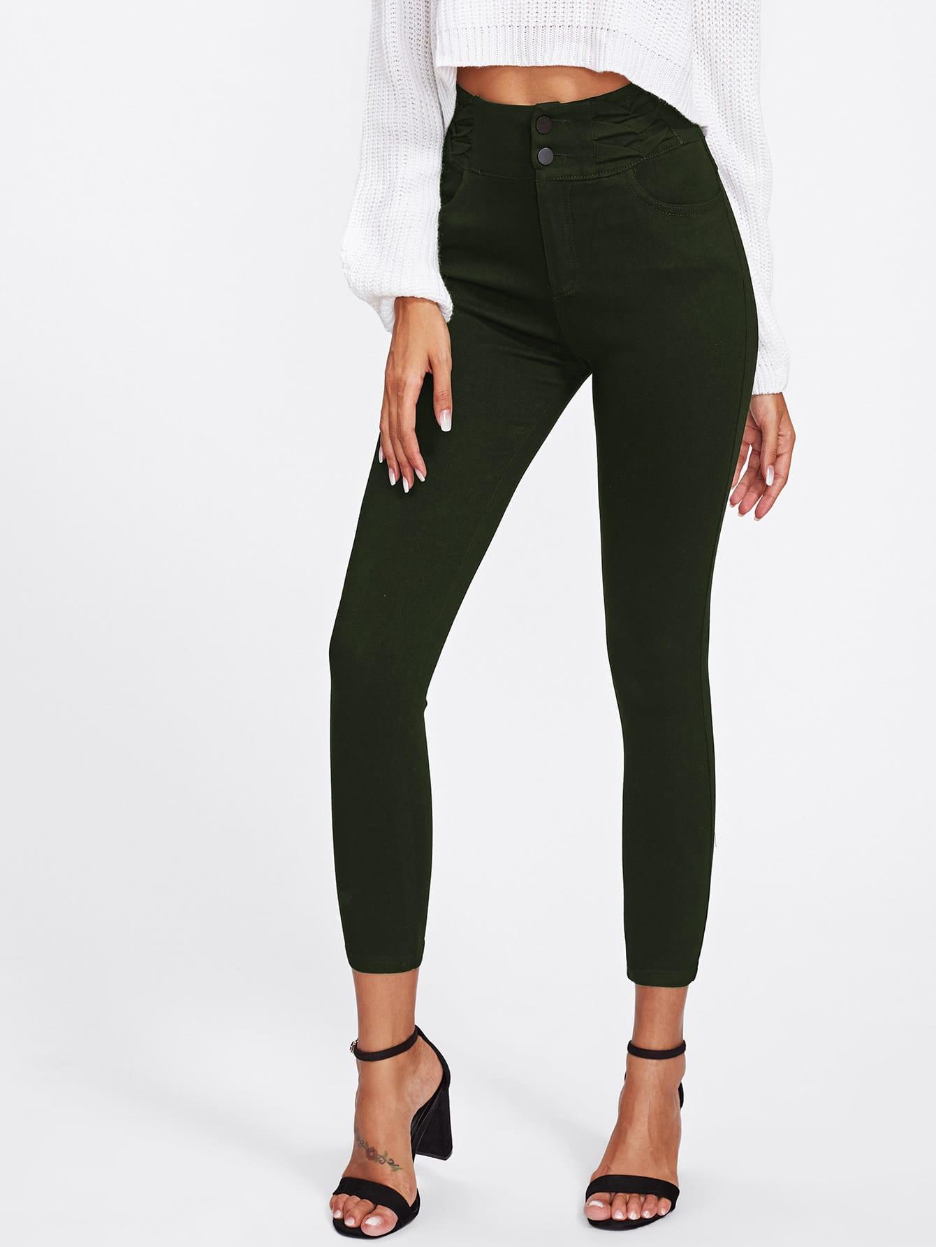 Skinny Ankle Pants zip back skinny pants