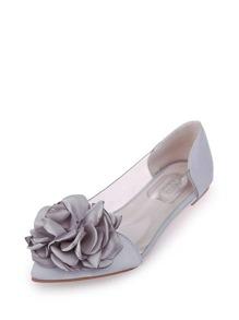 Flower Embellished Ballet Flats