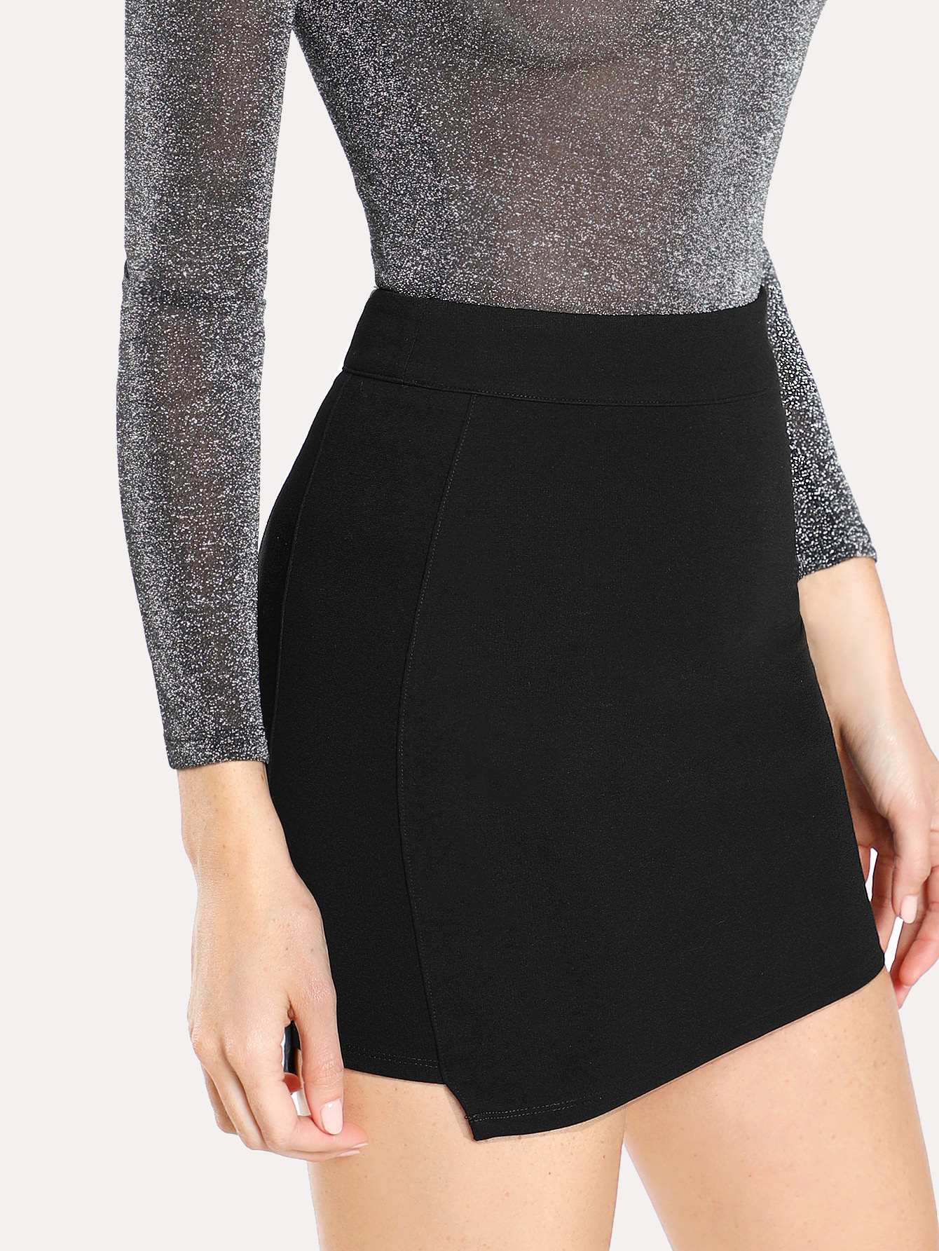 Solid Knit Bodycon Skirt жакет quelle ashley brooke by heine 71012