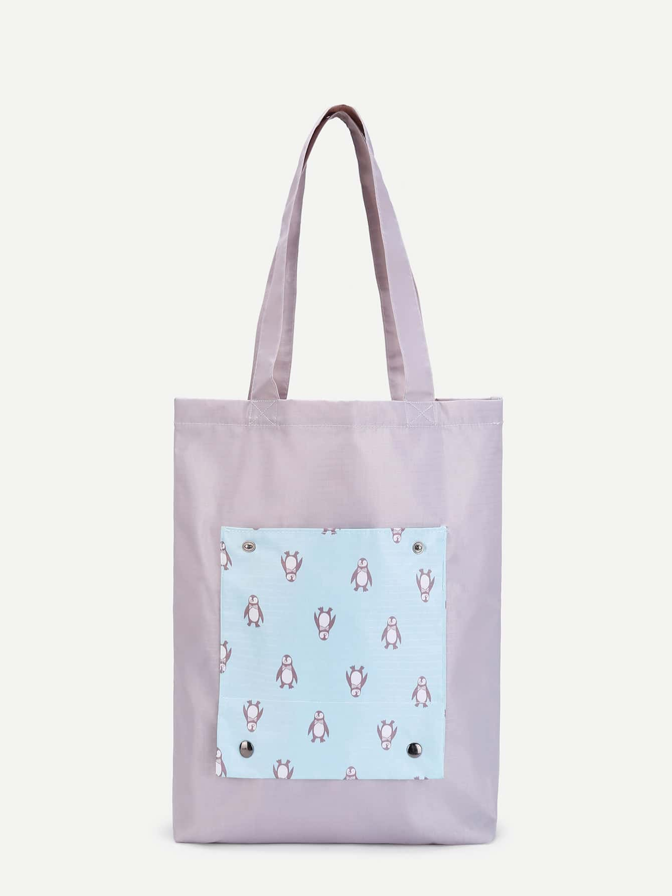 Penguin Print Tote Bag