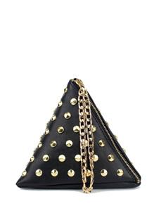 Studded Detail Triangle PU Bag