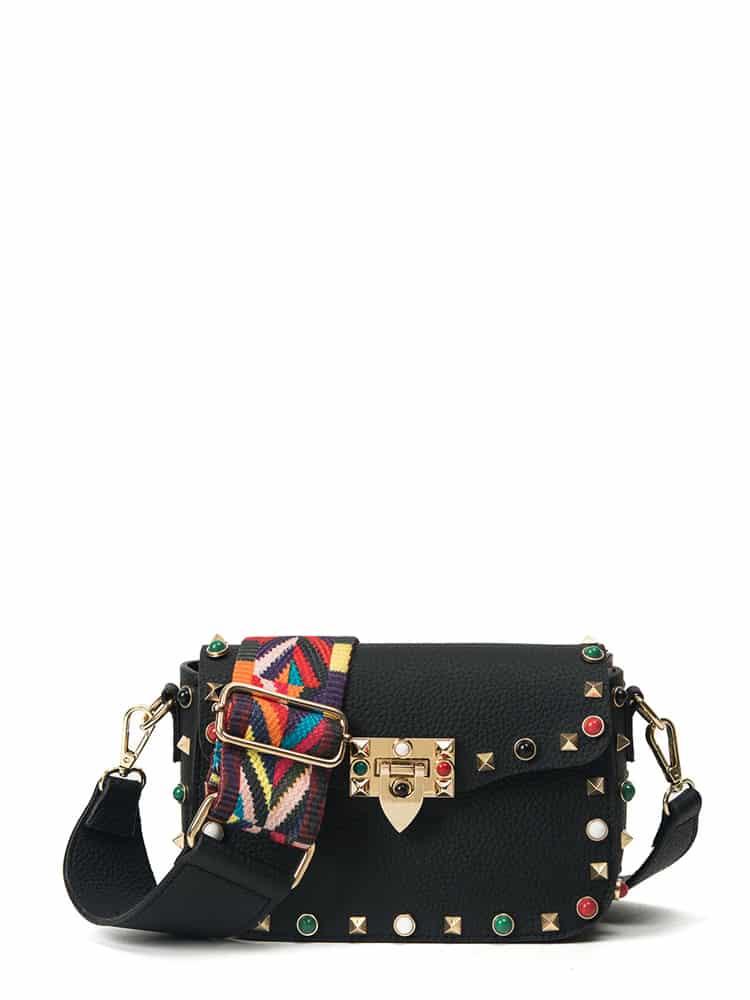 Studded Decorated PU Shoulder Bag