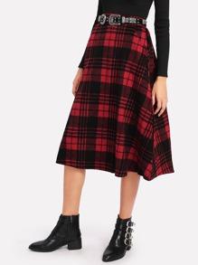 Модная клетчатая юбка