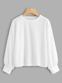 Lantern Sleeve Pullover
