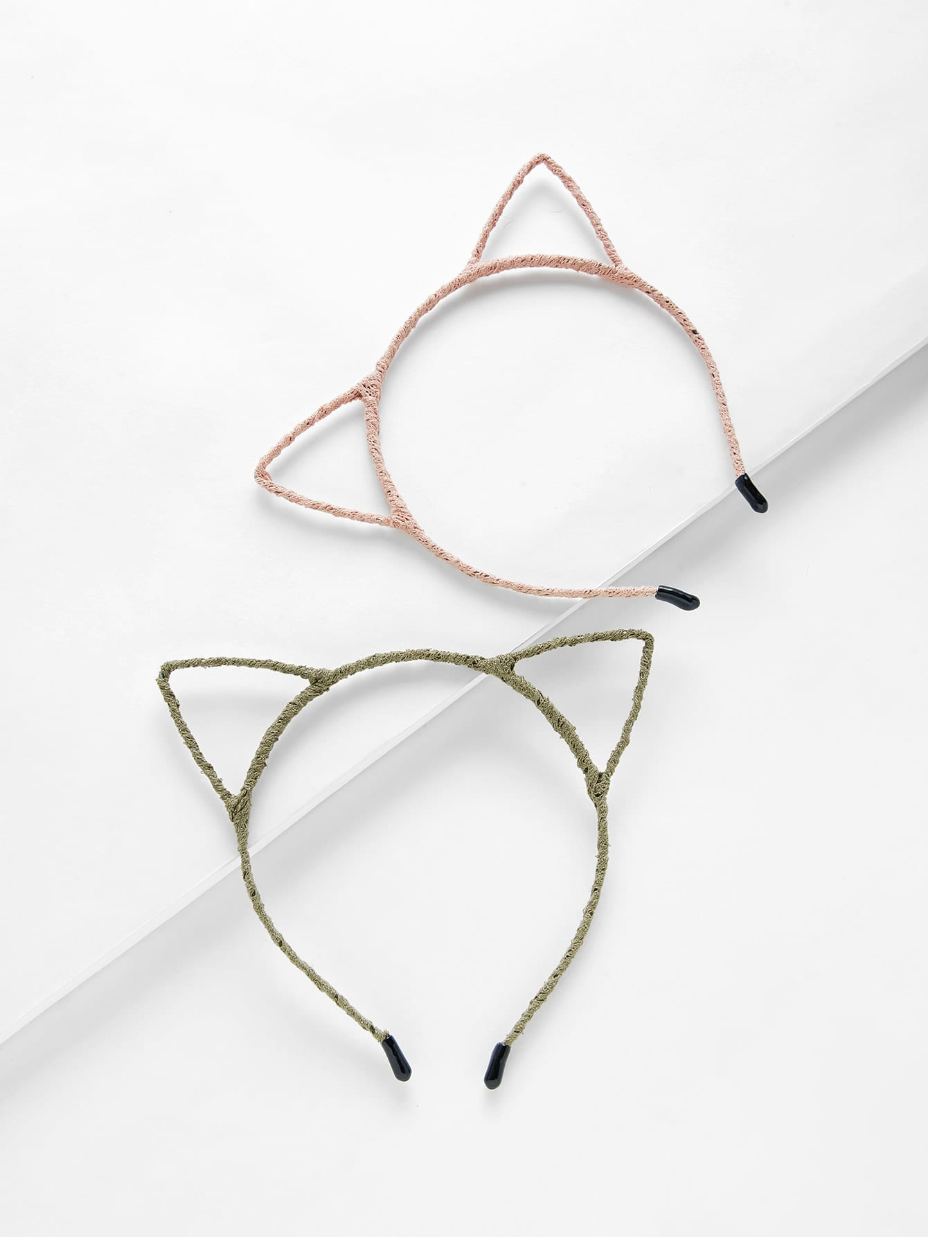 Cat Ear Headband 2pcs lace cat ear design headband 2pcs