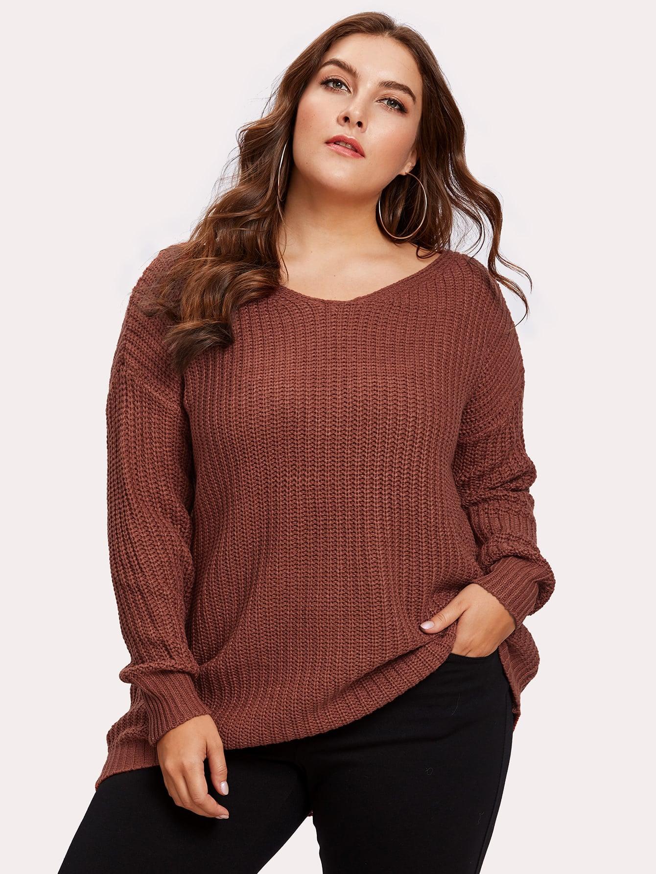 Drop Shoulder Oversized Sweater cartoon print drop shoulder sweater