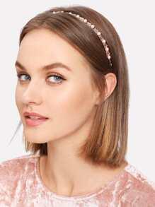 Beaded & Faux Pearl Headband