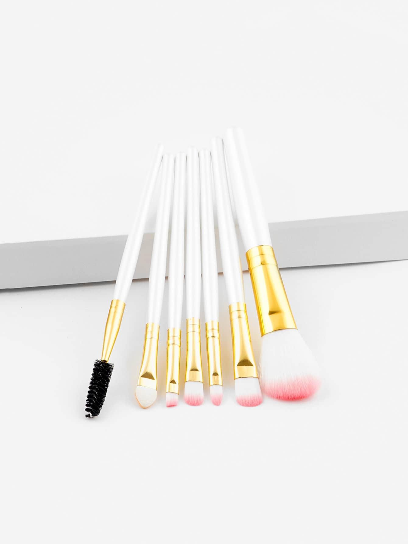 Two Tone Handle Makeup Brush 7pcs two tone handle makeup brush 7pcs