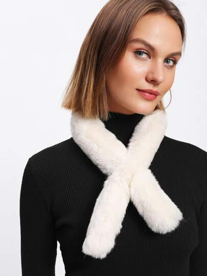 Cylinder Faux Fur Tippet Scarf