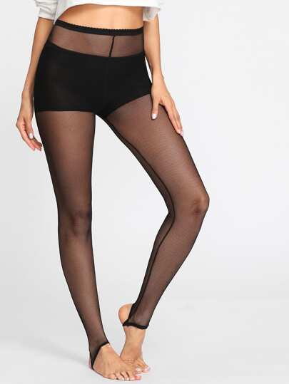 Stirrup Mesh Leggings