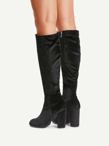 Heart Pattern Knee High Boots