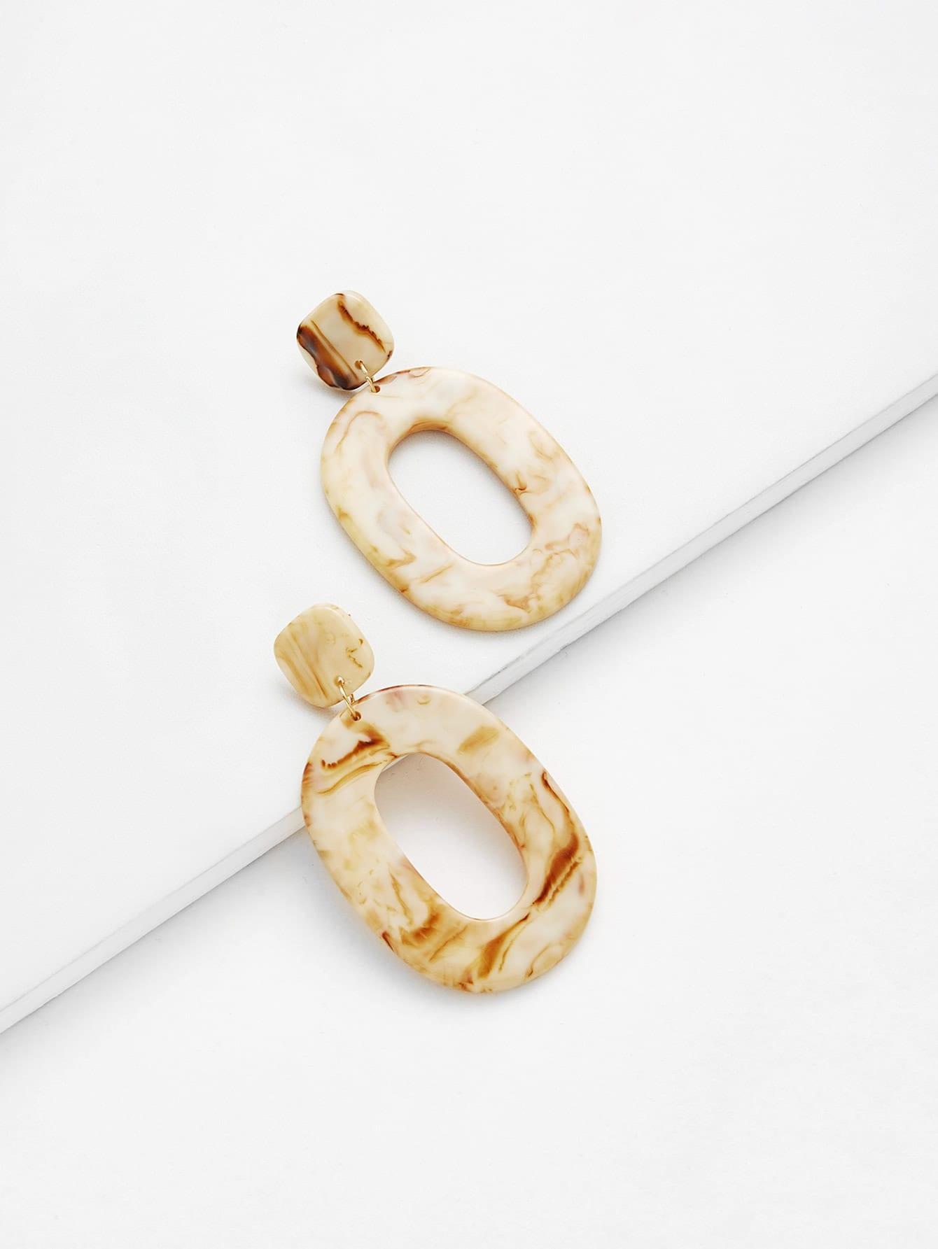 Ring Design Drop Earrings two tone cross design drop earrings