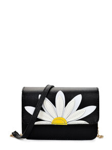 Daisy Patch PU Flap Bag