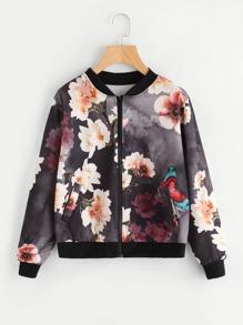 Floral Print Random Bomber jacket
