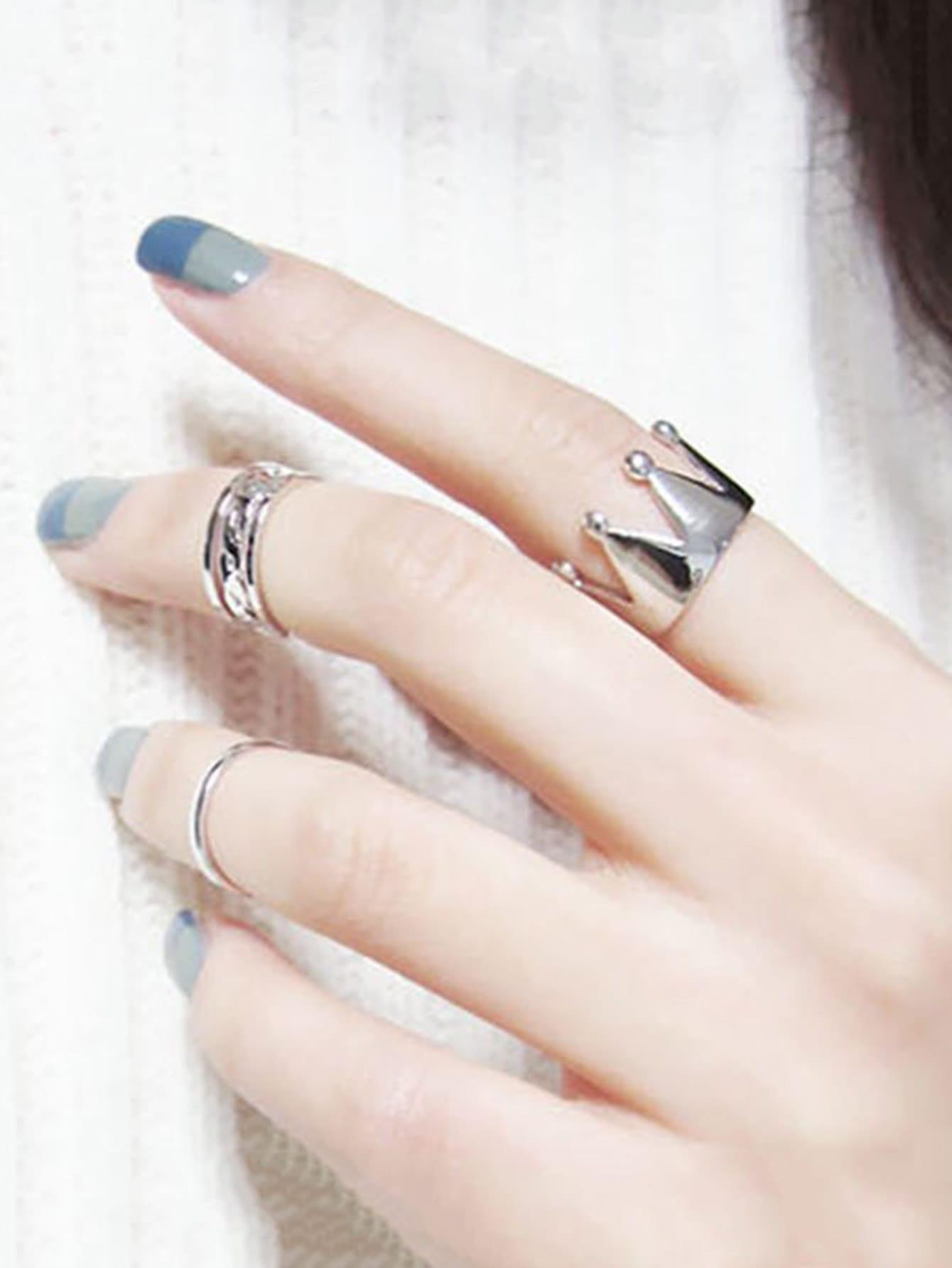 Crown Ring Set 3pcs