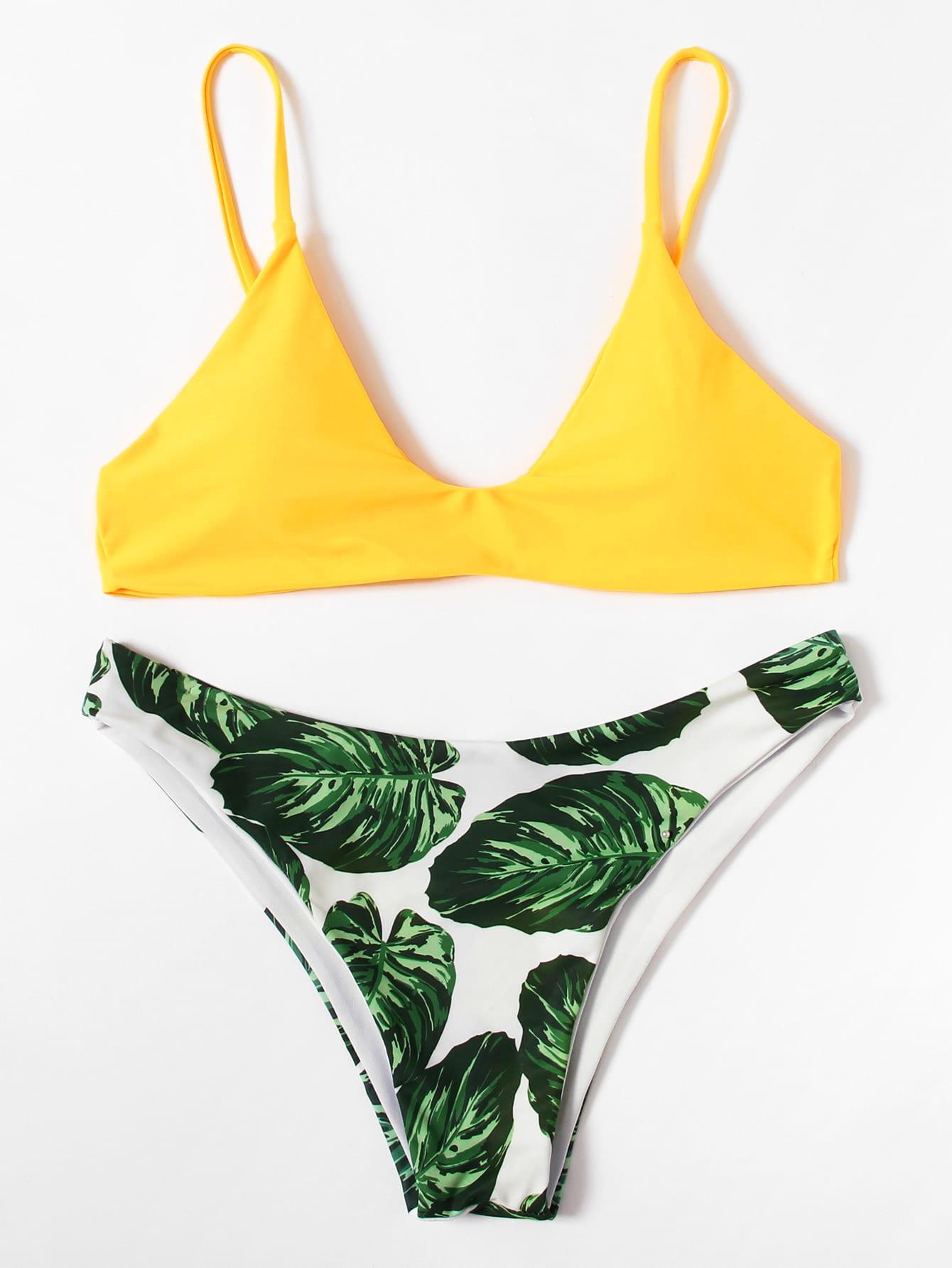 Jungle Print Mix And Match Bikini Set cross wrap mix and match bikini set